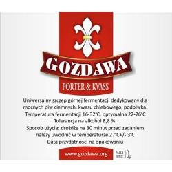 Drożdże piwowarskie Drożdże Gozdawa PORTER & KVASS kwas chlebowy podpiwek waga 10g