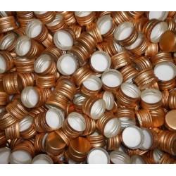 Zakrętka Zakrętki złote butelek monopolowych 28x18 10szt