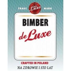 Etykieta naklejka na butelkę butelki BIMBER DE LUXE 10szt