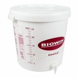 Pojemnik fermentacyjny 30 litrów z kranem oraz nadrukiem