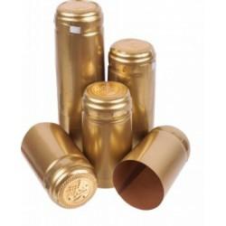 Kapturki termokurczliwe złote 10szt