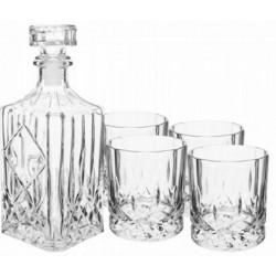Karafka + szklanki zestaw 5 szt do whisky nalewki