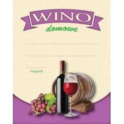 Etykiety naklejki butelki WINO CZERWONE 10szt