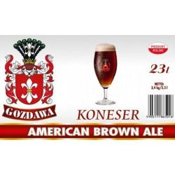 Piwo brewkit KONESER AMERICAN BROWN ALE Gratis