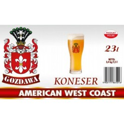 Piwo brewkit KONESER AMERICAN WEST COAST Gratis