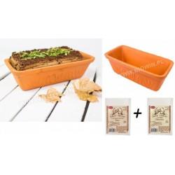 Garnek rzymski 2L pieczenia chleba mięsa warzyw + 2x zakwas