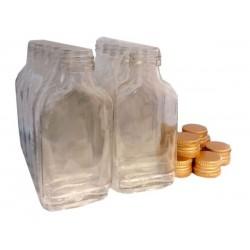 Piersiówka 100 ml butelka z zakrętką na nalewki 10szt
