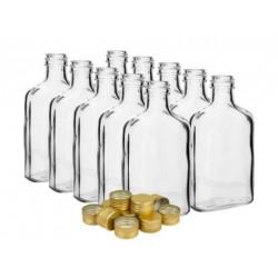 Piersiówka 200 ml butelka z zakrętką na nalewki 10szt