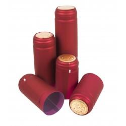 Kapturki termokurczliwe czerwone 100szt