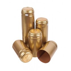 Kapturki termokurczliwe złote 100szt