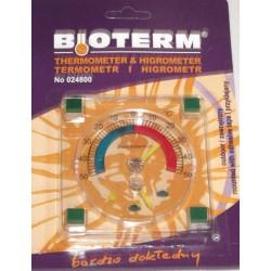 Termometr i higrometr przyklejany 90/90mm