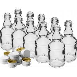 Butelka maluch 50 ml butelka z zakrętką na nalewki próbki 10szt
