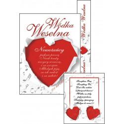 Etykiety na wódkę weselną + banderola - 50kpl